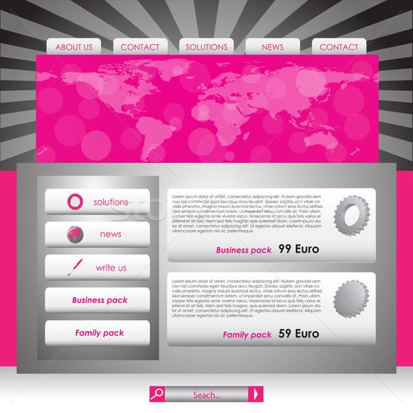 Website design template, Vector illustration. Stock photo © place4design