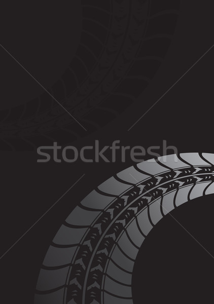 Black tire track background Stock photo © place4design