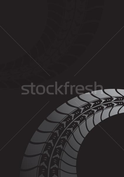 черный шин трек дороги спорт дизайна Сток-фото © place4design