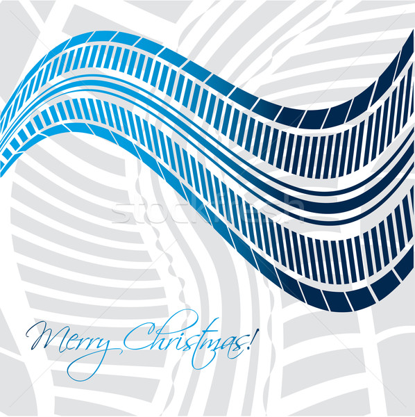 Christmas band ontwerp Blauw silhouet behang Stockfoto © place4design
