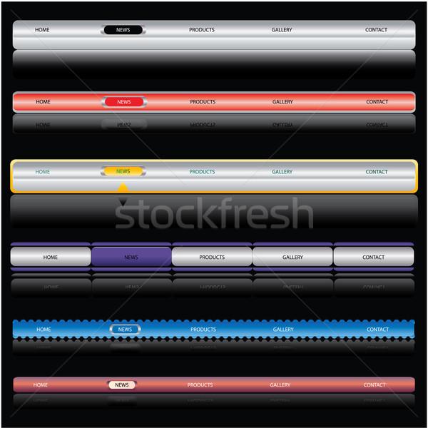 web navigation templates Stock photo © place4design