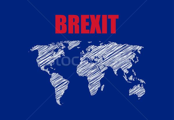 аннотация карта синий флаг Европа стране Сток-фото © place4design