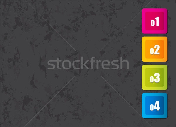 grunge background with colorful numbered squares  Stock photo © place4design