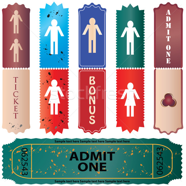 admit one ticket - colored vector  Stock photo © place4design