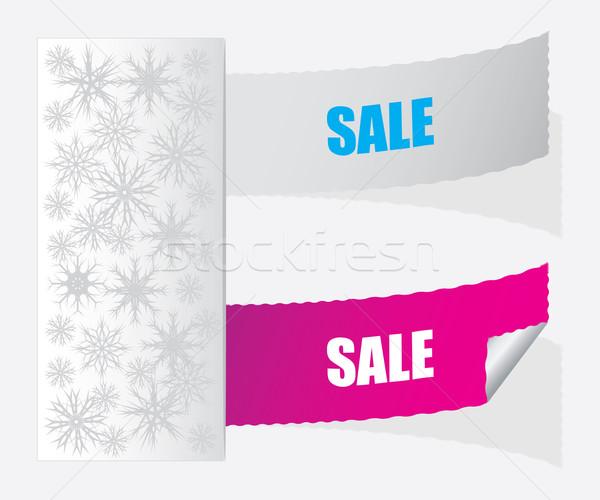 SALE labels. Christmas edition Stock photo © place4design