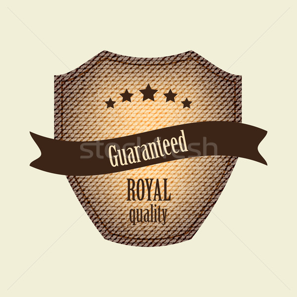 guarantee label with retro vintage design Stock photo © place4design