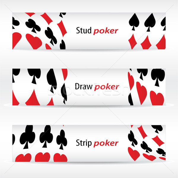special banners with poker design Stock photo © place4design