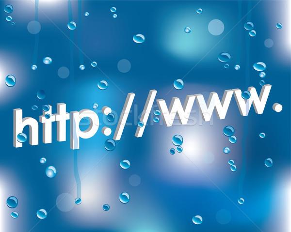 Internet address on a wet glass Stock photo © place4design