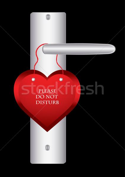 Stock photo: Valentine day door hanger
