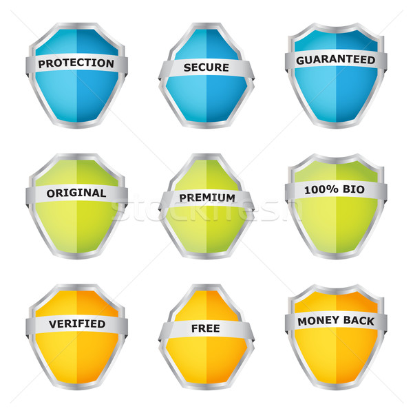 security shield symbol icon set with special design Stock photo © place4design