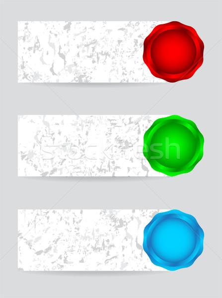 специальный Баннеры воск дизайна звездой красный Сток-фото © place4design