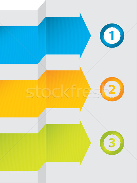 special vector arrows and numbered buttons Stock photo © place4design