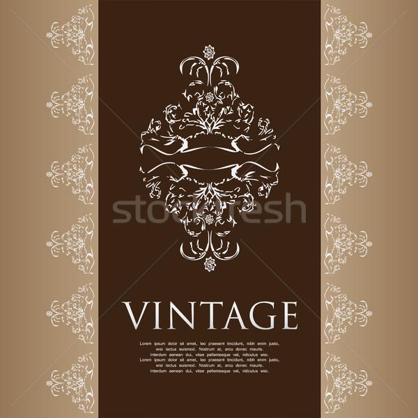 Vintage couvrir affaires vin design espace Photo stock © place4design