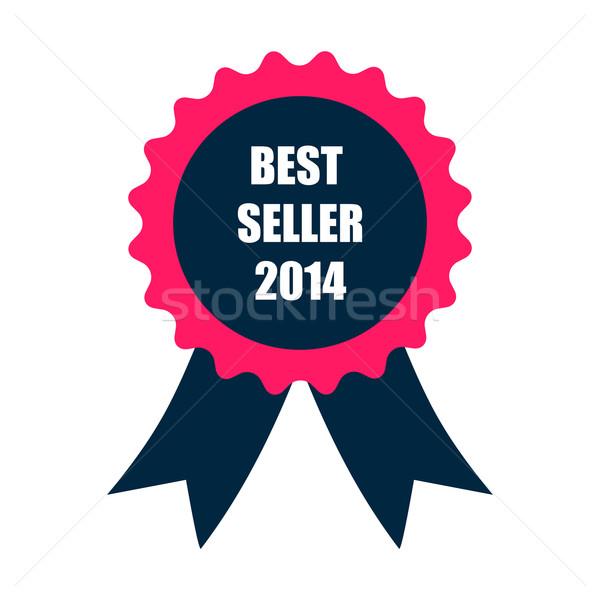 лучший продавец 2014 Знак лента дизайна Сток-фото © place4design