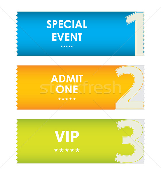special modern ticket template, event ticket, admit one Stock photo © place4design