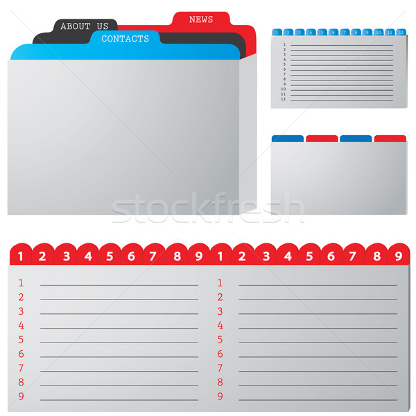 colored illustration of a folder containing documents Stock photo © place4design