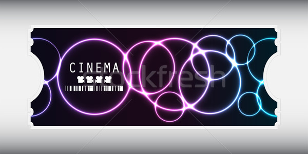 special movie ticket with plasma design Stock photo © place4design