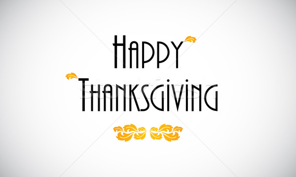 Happy Thanksgiving  greeting card, vector design Stock photo © place4design