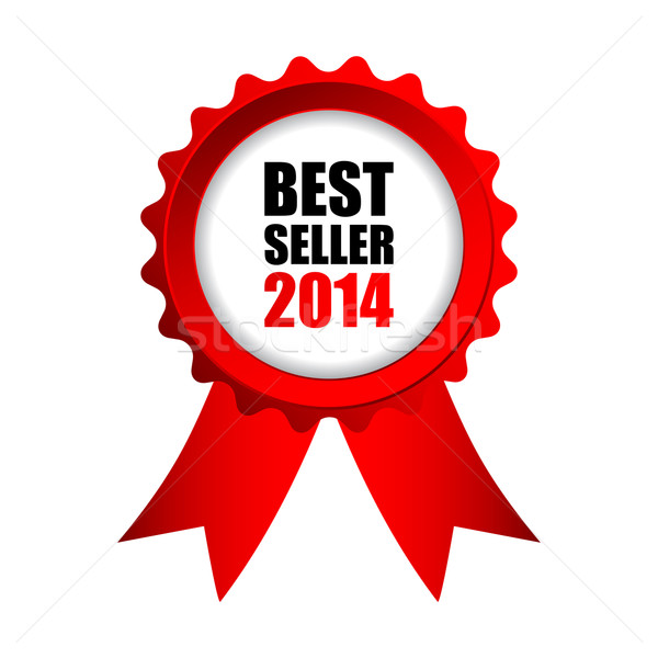 Best verkoper 2014 Rood badge business Stockfoto © place4design