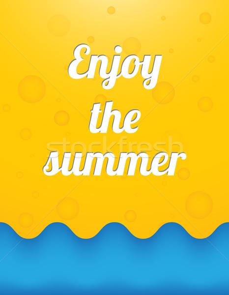 élvezi nyár gyönyörű nap absztrakt természet Stock fotó © place4design