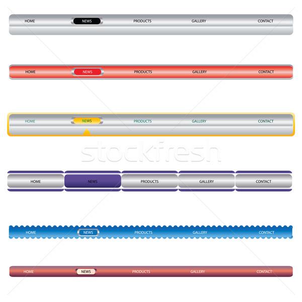 Editable Website Navigation Templates Stock photo © place4design