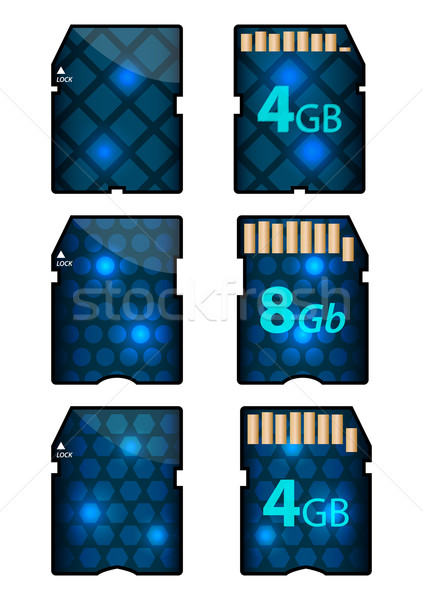memory SD card design with front and back sides Stock photo © place4design