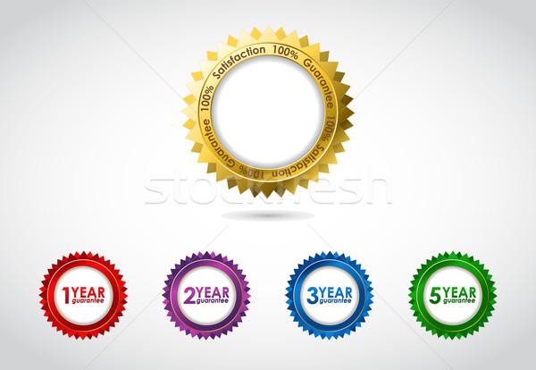 Vetor garantir assinar garantia etiqueta especial Foto stock © place4design