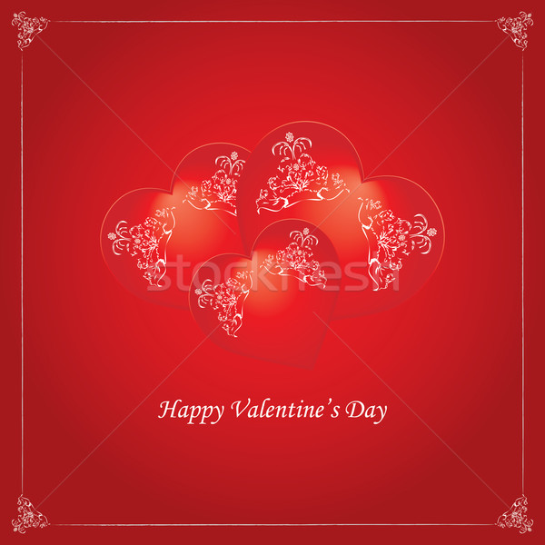 valentine background with heart - vintage design Stock photo © place4design