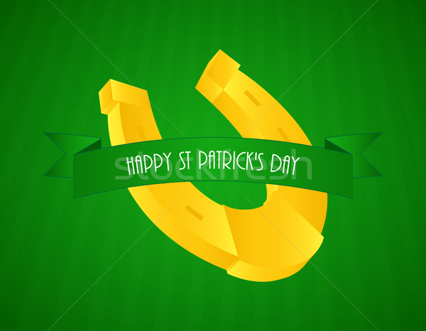 special green St.Patrick's day background with a yellow shod Stock photo © place4design