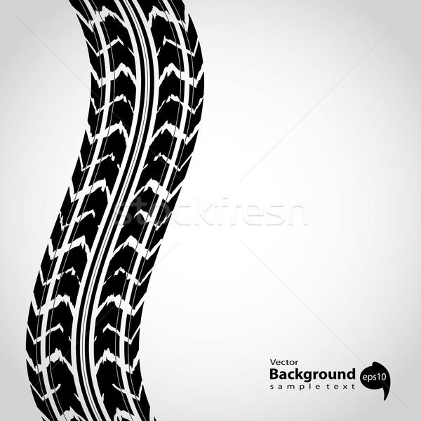 Especial preto pneu seguir abstrato estrada Foto stock © place4design