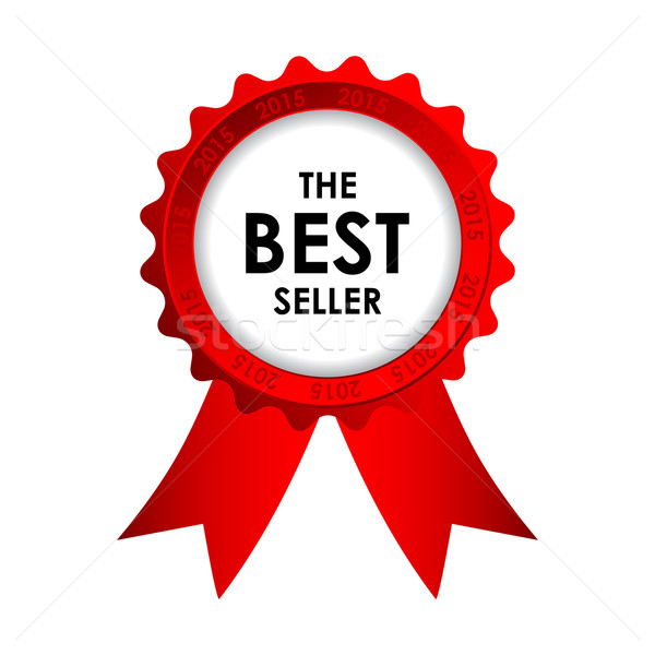 red vector best seller badge  Stock photo © place4design