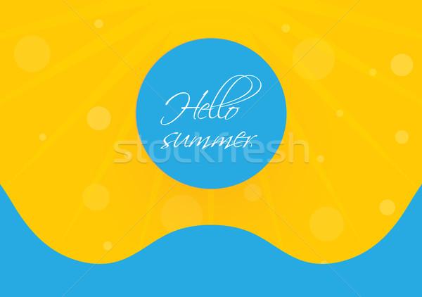 Különleges nyár vektor terv eps10 tengerpart Stock fotó © place4design