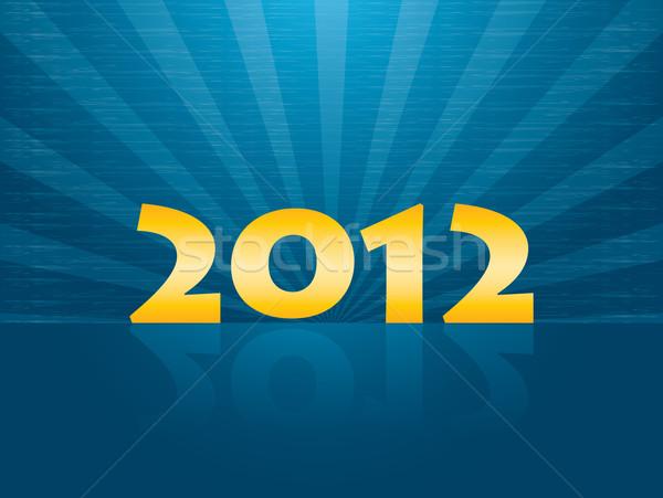 Nuevos año tarjeta 2012 feliz arte Foto stock © place4design