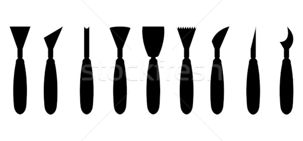 special working tools icon set for your industrial website Stock photo © place4design