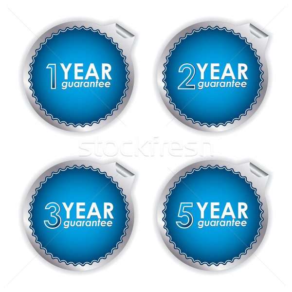 special blue guarantee labels on white background Stock photo © place4design