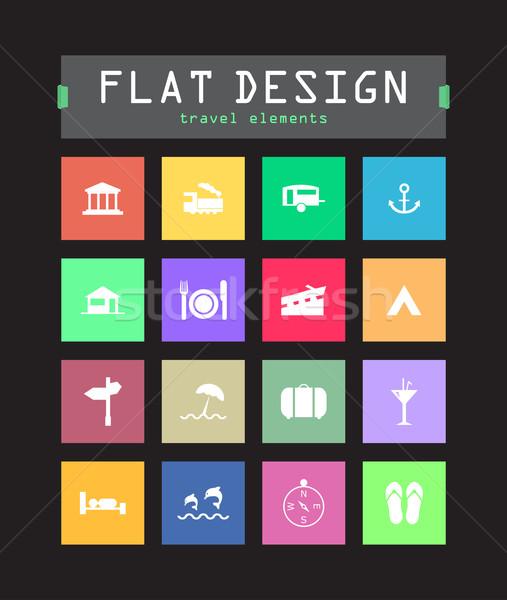 Especial ui iconos web móviles aplicaciones Foto stock © place4design