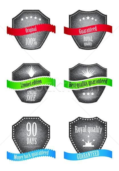 специальный Этикетки черный джинсов дизайна текстуры Сток-фото © place4design