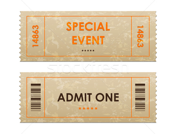 Entree tickets business partij film kunst Stockfoto © place4design