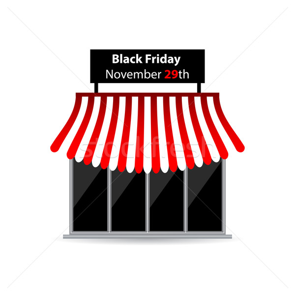 Black friday magasin icône spéciale design affaires Photo stock © place4design
