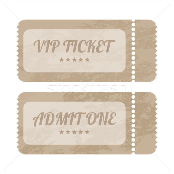 vintage paper tickets with special design Stock photo © place4design