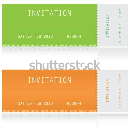 admit one cinema ticket Stock photo © place4design