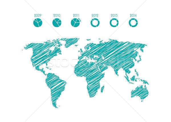 Moderno negócio infográficos elementos eps10 escritório Foto stock © place4design