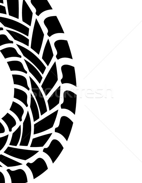 tire print, vector illustration, eps10 Stock photo © place4design