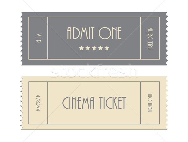 special vector ticket template, admit one, cinema ticket  Stock photo © place4design