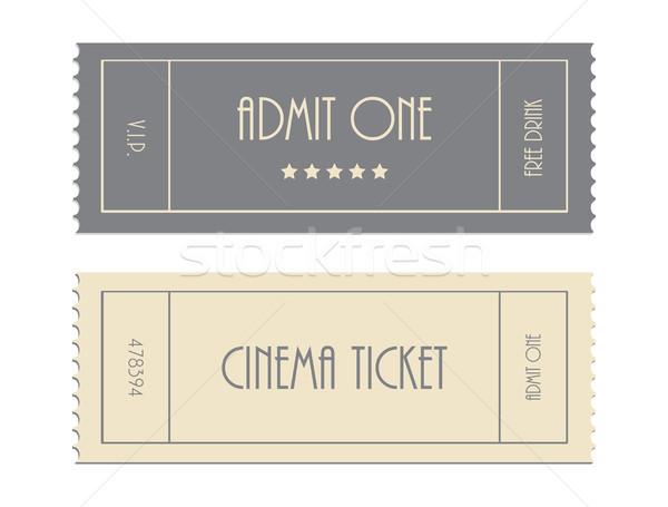 Különleges vektor jegy sablon egy mozi Stock fotó © place4design