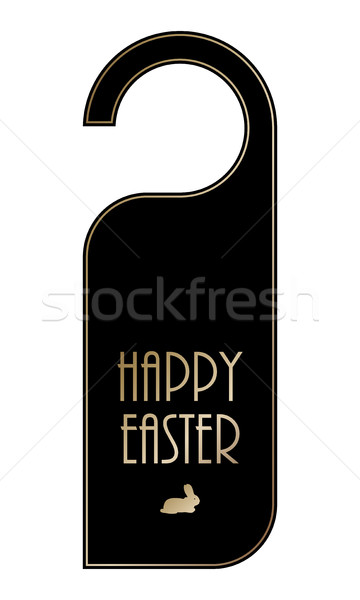 Húsvét ajtó fogantyú vektor eps10 iroda Stock fotó © place4design