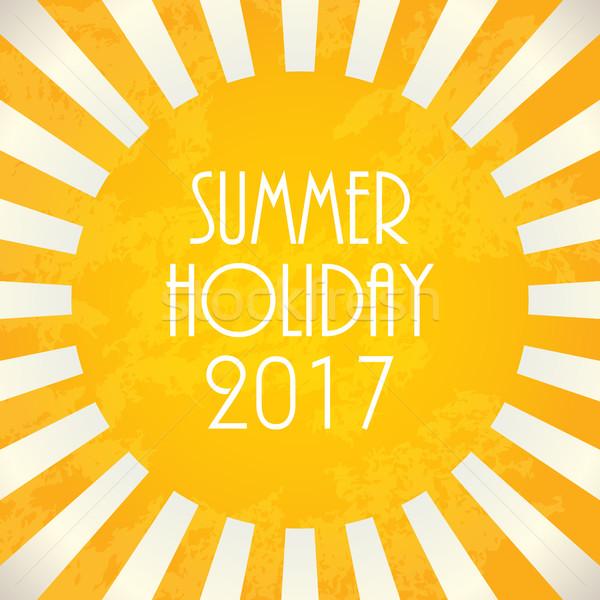 Summer background - 2017, vector illustration, EPS10 Stock photo © place4design