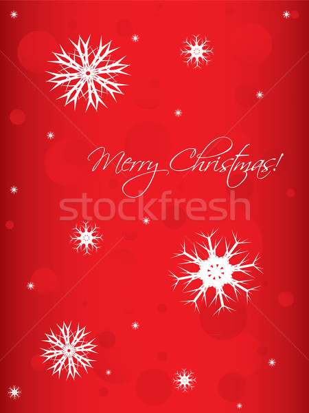 special Christmas background with white snowflakes Stock photo © place4design