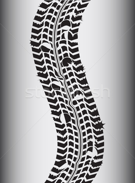 специальный транспорт Гранж шин трек текстуры Сток-фото © place4design