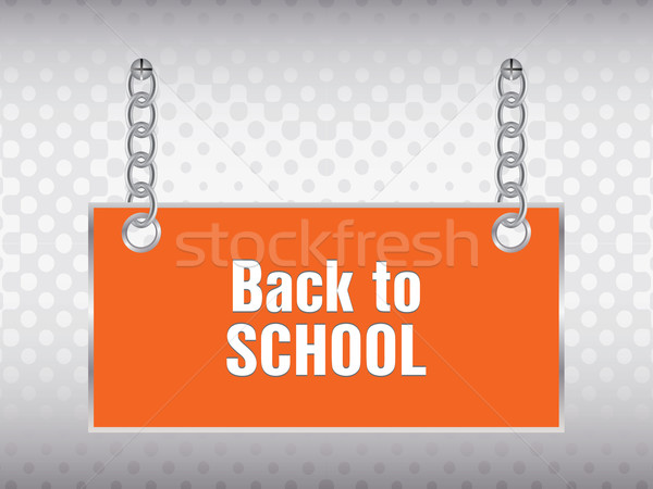 back to school background with special design Stock photo © place4design